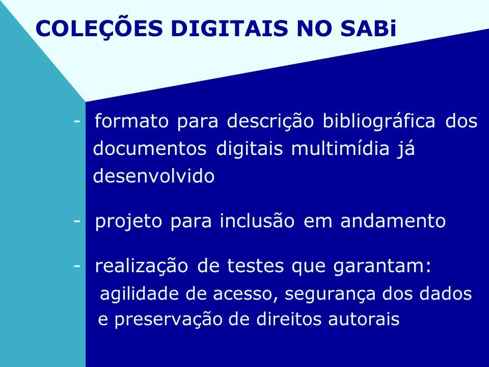 COLEÇÕES DIGITAIS NO SABi