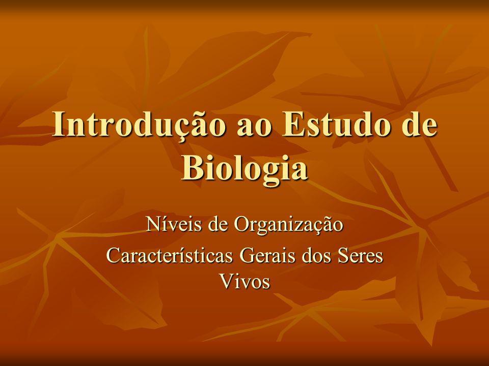 Introdução ao Estudo de Biologia