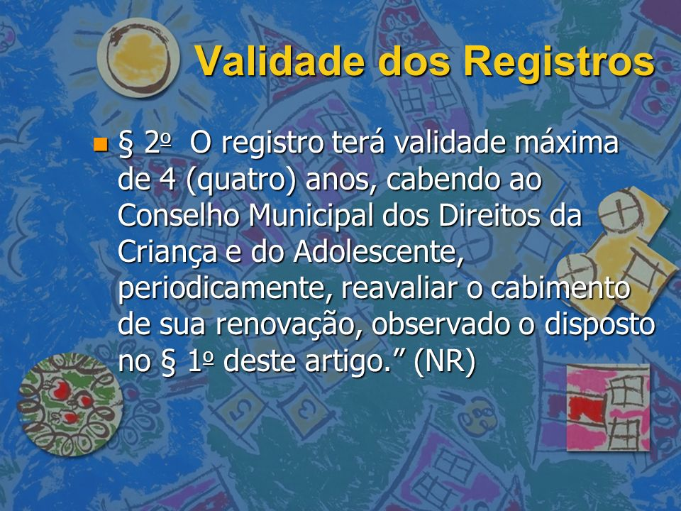 Validade dos Registros