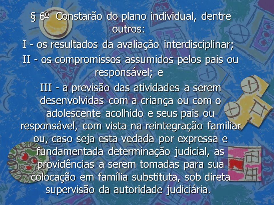 § 6o Constarão do plano individual, dentre outros: