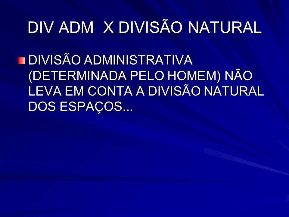 DIV ADM X DIVISÃO NATURAL