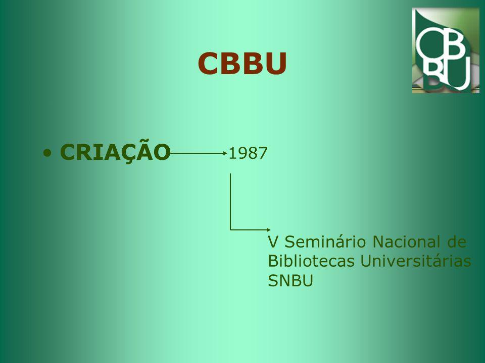 CBBU CRIAÇÃO 1987 V Seminário Nacional de Bibliotecas Universitárias
