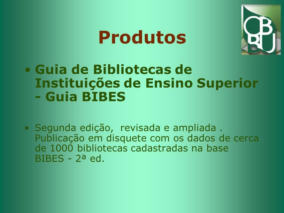 Produtos Guia de Bibliotecas de Instituições de Ensino Superior - Guia BIBES.