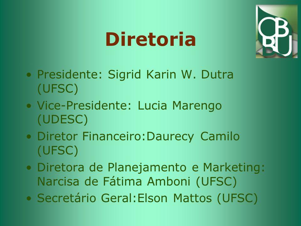 Diretoria Presidente: Sigrid Karin W. Dutra (UFSC)