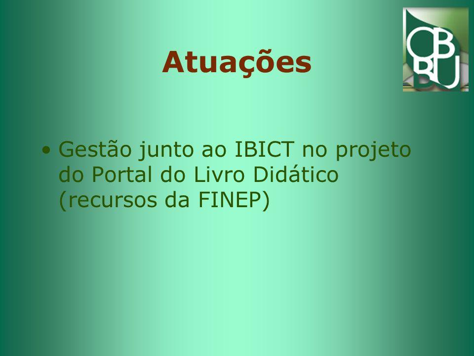 Atuações Gestão junto ao IBICT no projeto do Portal do Livro Didático (recursos da FINEP)