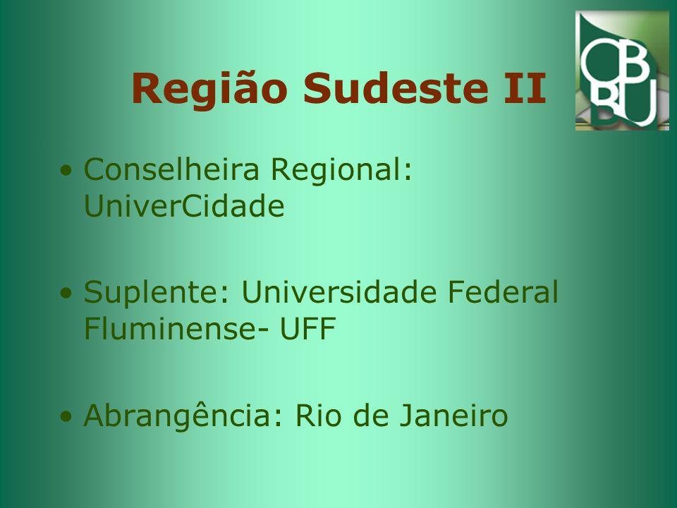 Região Sudeste II Conselheira Regional: UniverCidade