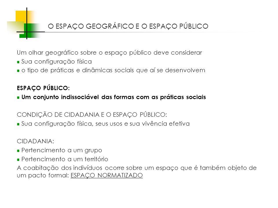 O ESPAÇO GEOGRÁFICO E O ESPAÇO PÚBLICO