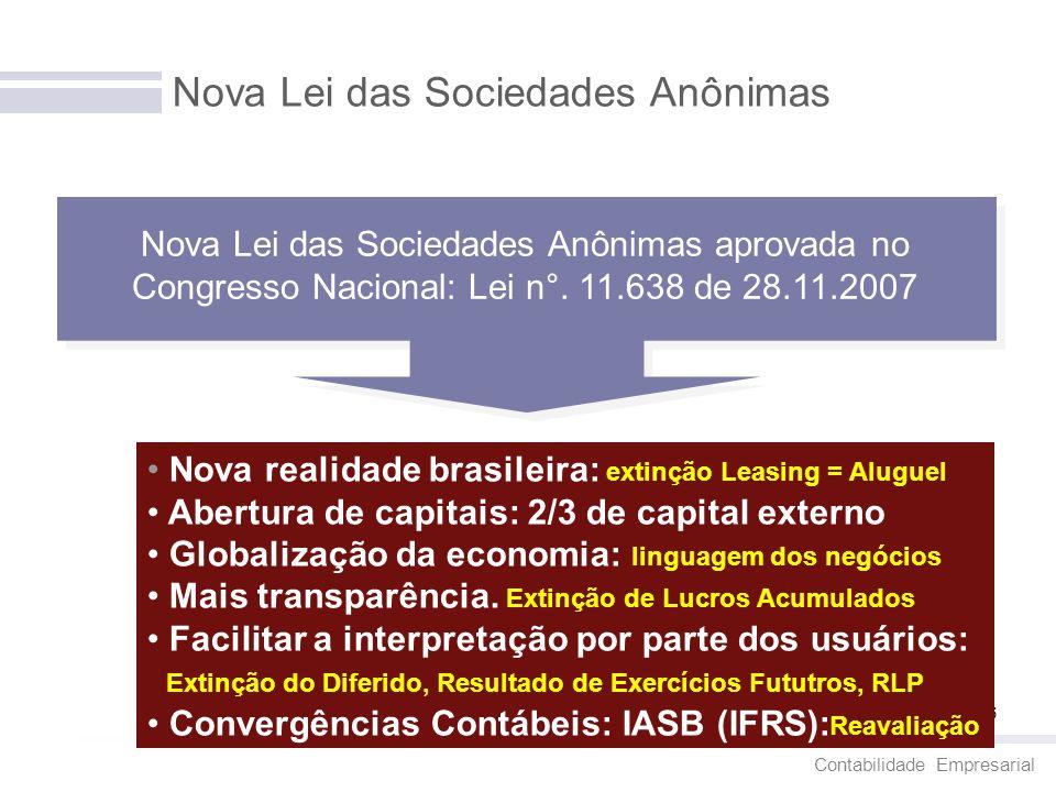 Nova Lei das Sociedades Anônimas