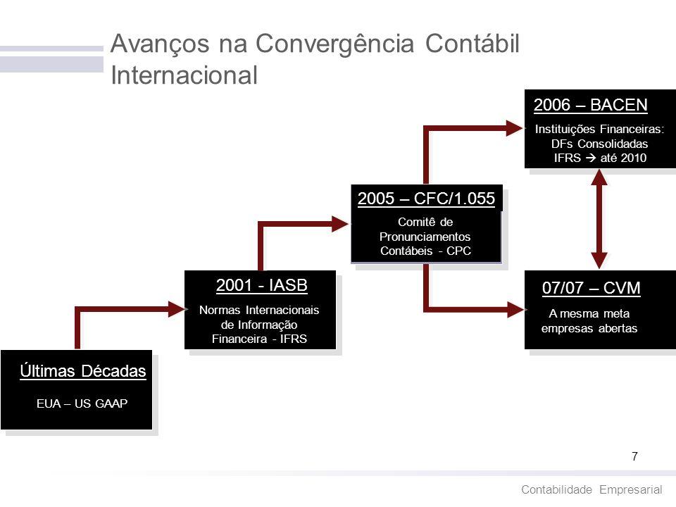 Avanços na Convergência Contábil Internacional