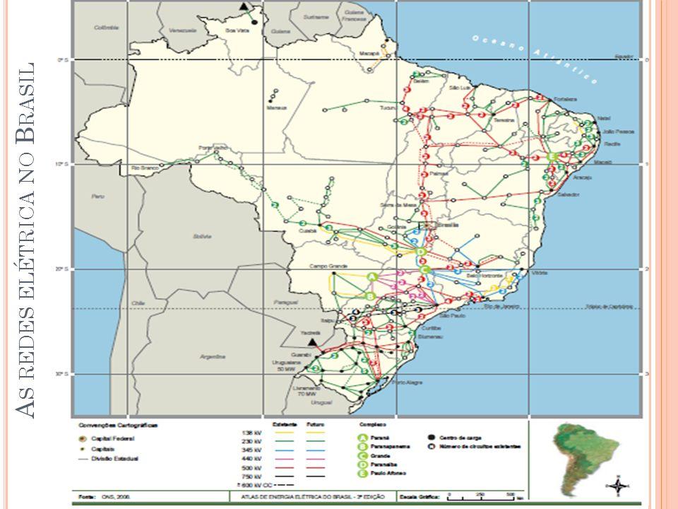 As redes elétrica no Brasil
