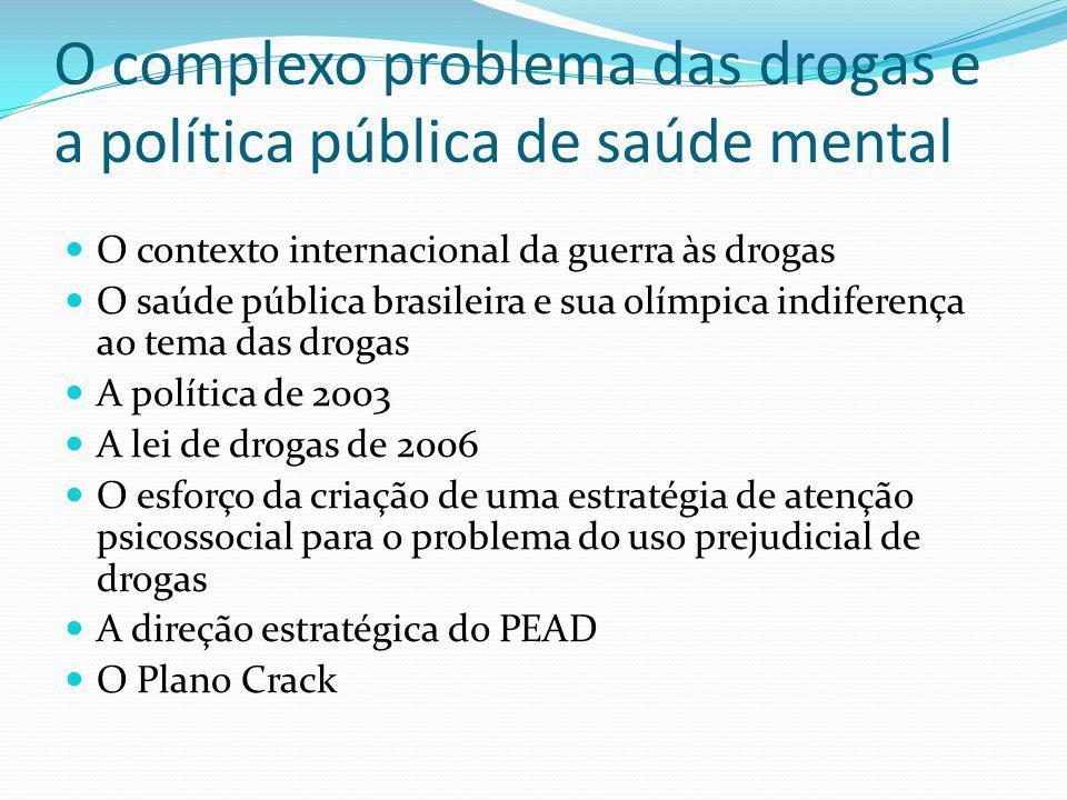 O complexo problema das drogas e a política pública de saúde mental