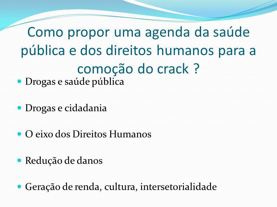 Como propor uma agenda da saúde pública e dos direitos humanos para a comoção do crack
