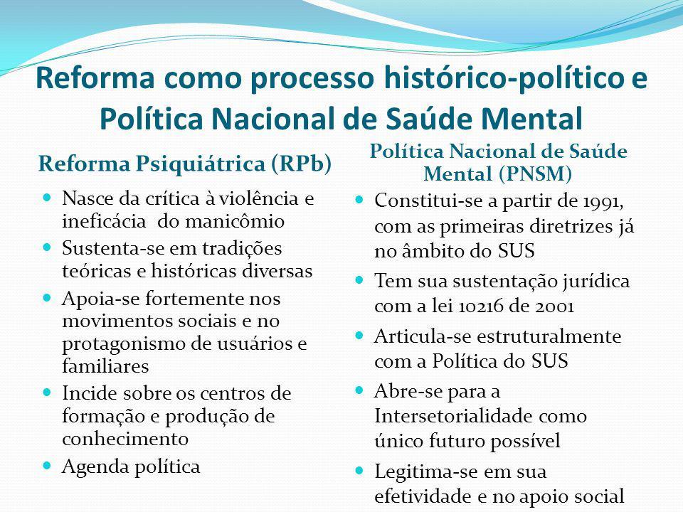 Política Nacional de Saúde Mental (PNSM)