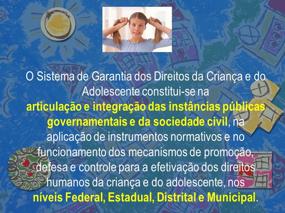 níveis Federal, Estadual, Distrital e Municipal.