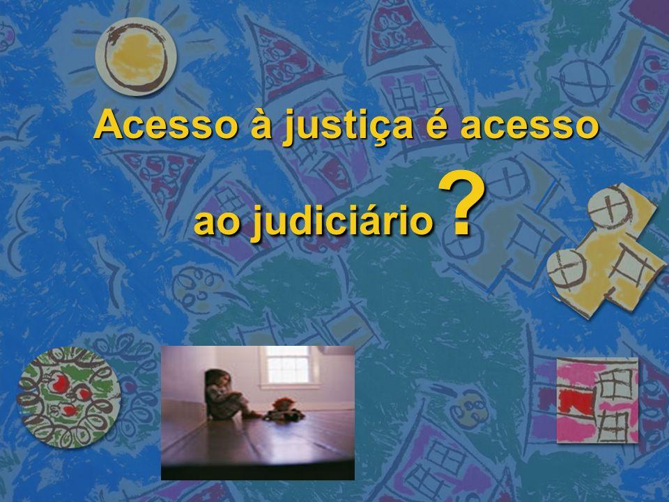 Acesso à justiça é acesso ao judiciário