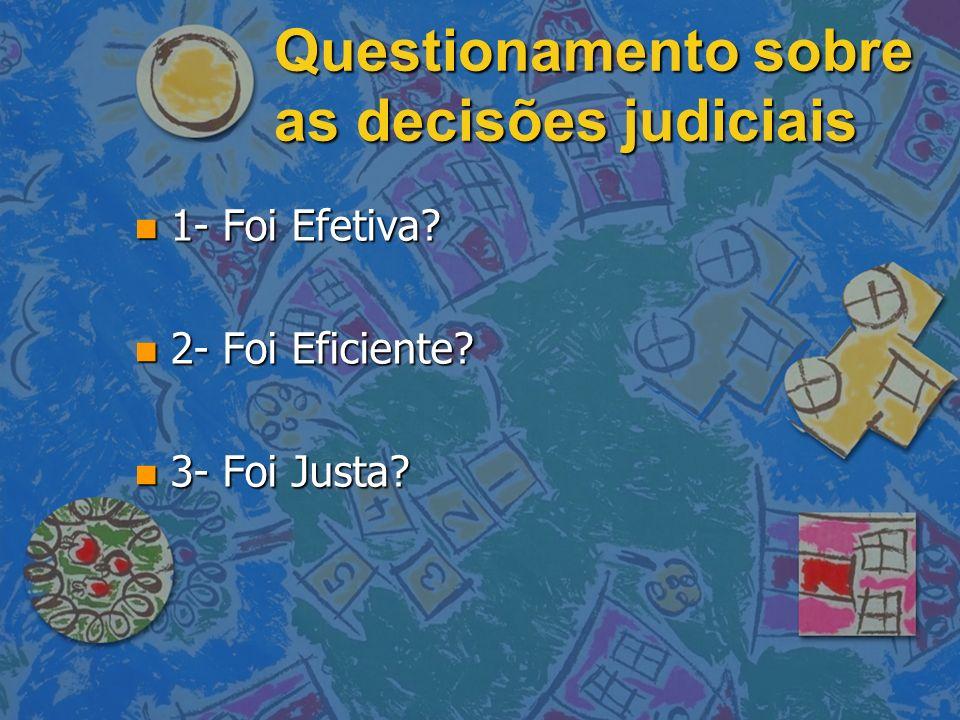 Questionamento sobre as decisões judiciais