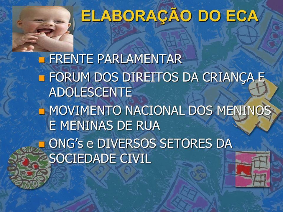 ELABORAÇÃO DO ECA FRENTE PARLAMENTAR
