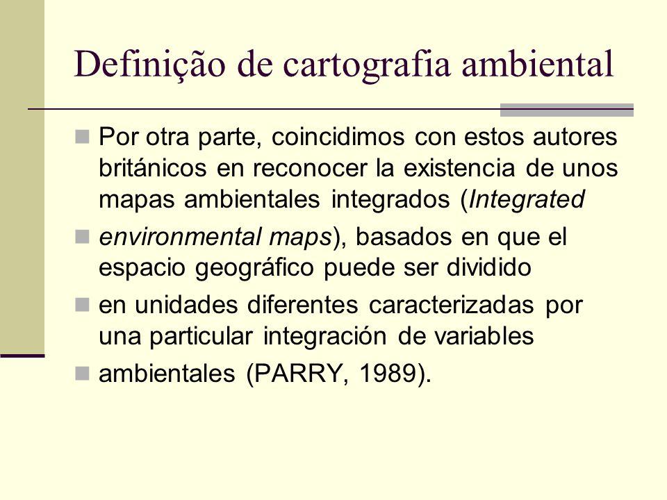 Definição de cartografia ambiental