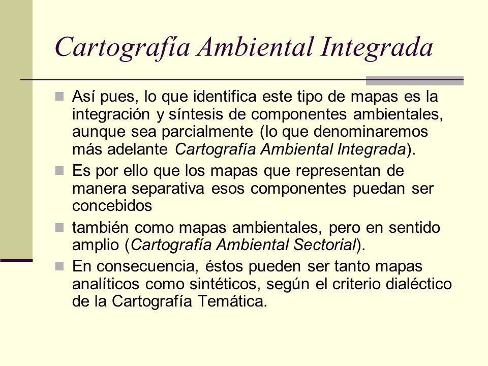 Cartografía Ambiental Integrada