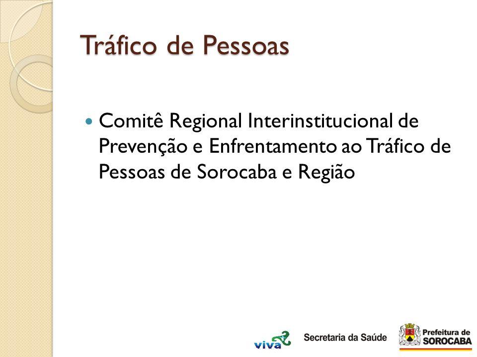 Tráfico de Pessoas Comitê Regional Interinstitucional de Prevenção e Enfrentamento ao Tráfico de Pessoas de Sorocaba e Região.