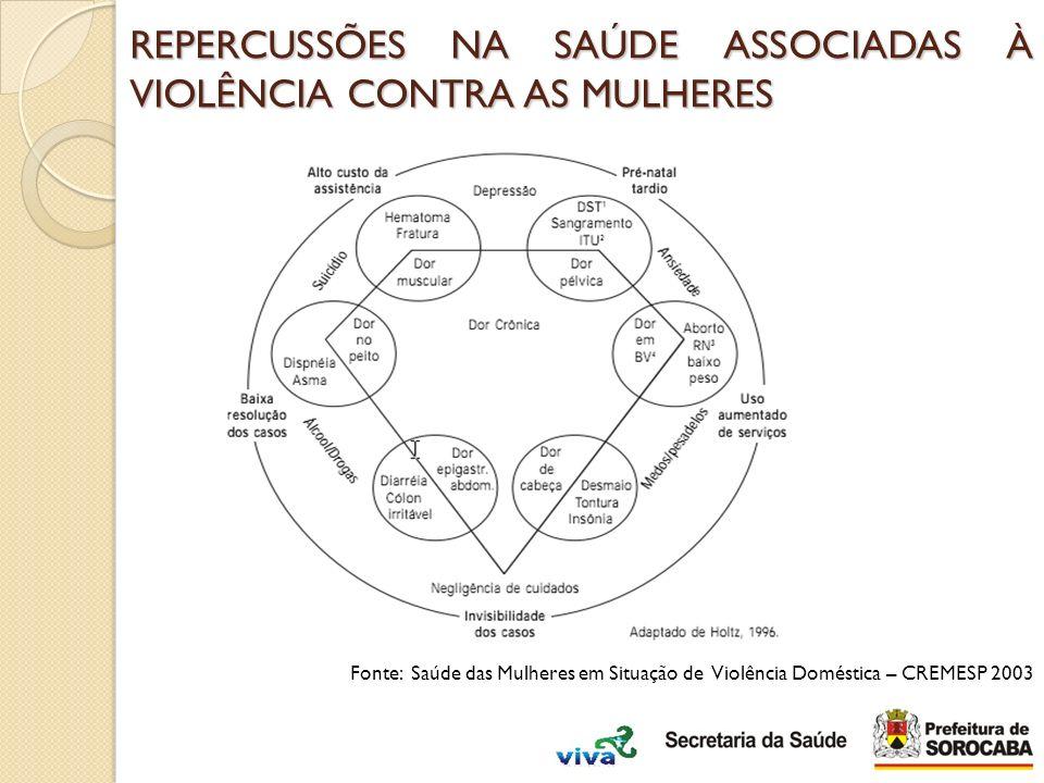 REPERCUSSÕES NA SAÚDE ASSOCIADAS À VIOLÊNCIA CONTRA AS MULHERES