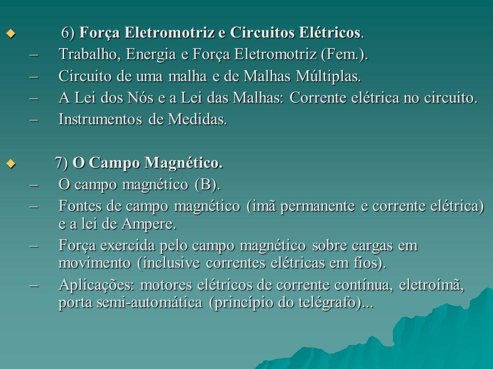 6) Força Eletromotriz e Circuitos Elétricos.