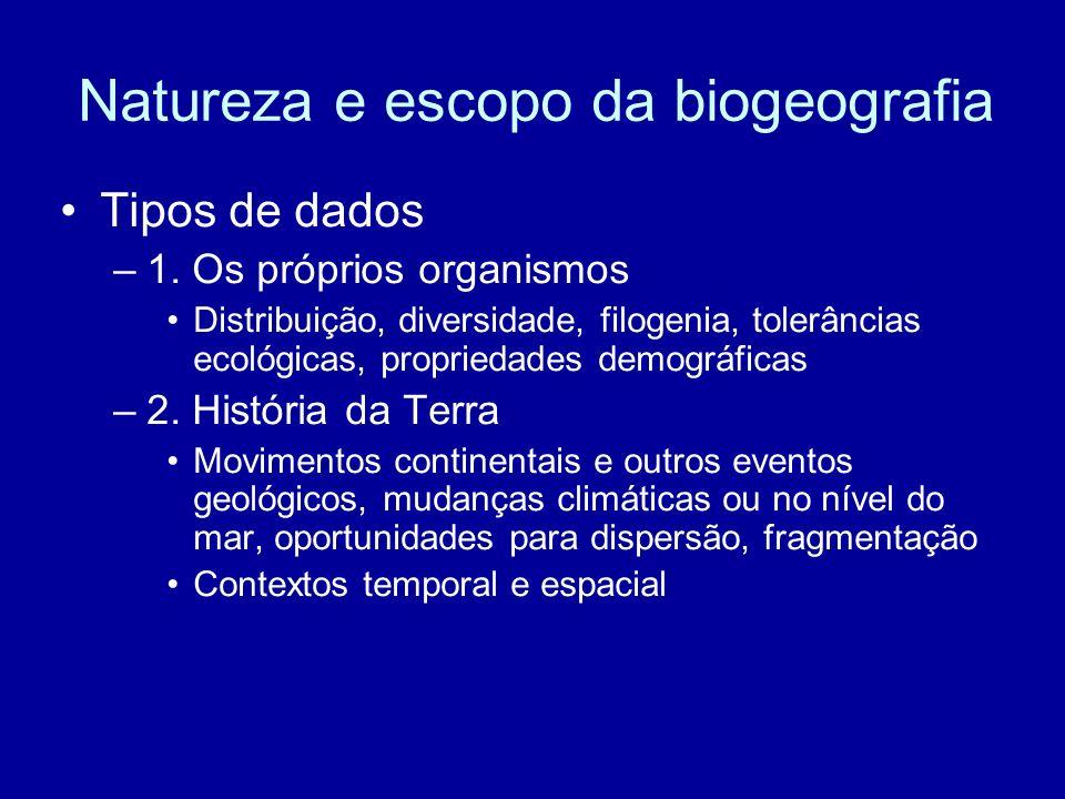 Natureza e escopo da biogeografia