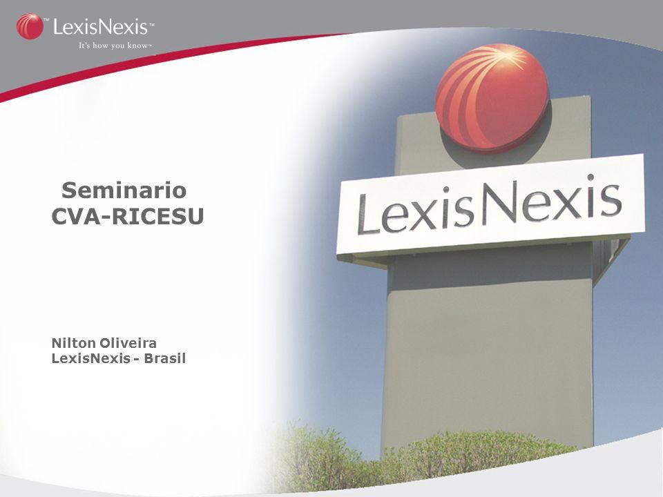 Seminario CVA-RICESU Nilton Oliveira LexisNexis - Brasil