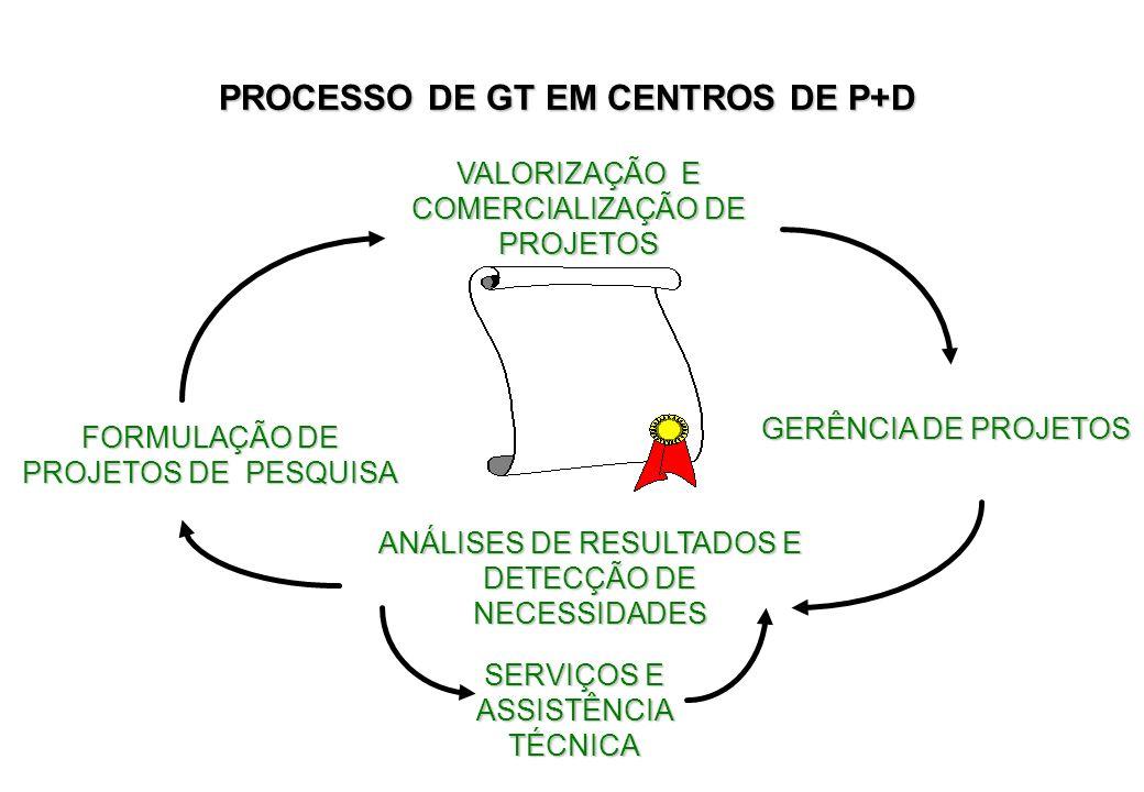 PROCESSO DE GT EM CENTROS DE P+D