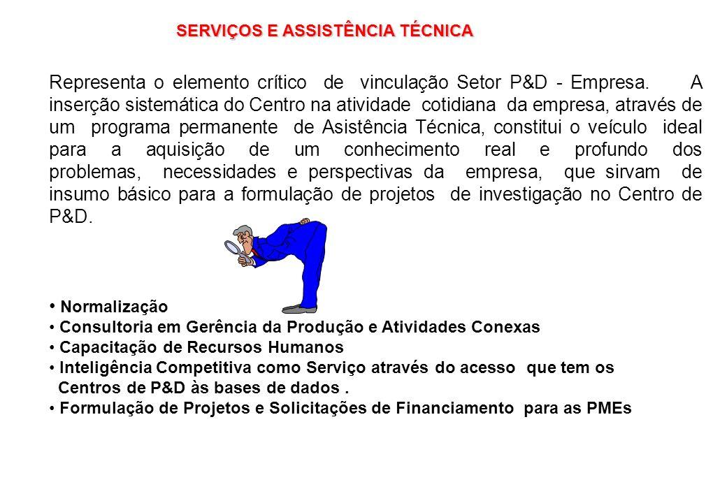 SERVIÇOS E ASSISTÊNCIA TÉCNICA