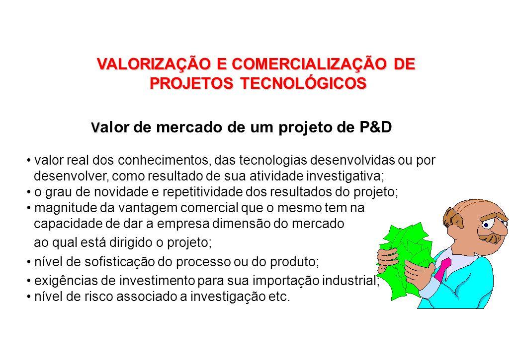 VALORIZAÇÃO E COMERCIALIZAÇÃO DE PROJETOS TECNOLÓGICOS
