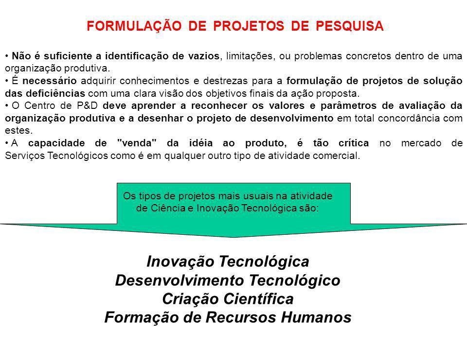 Desenvolvimento Tecnológico Formação de Recursos Humanos