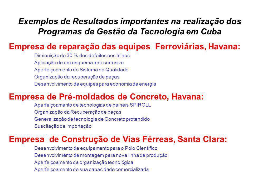 Empresa de reparação das equipes Ferroviárias, Havana: