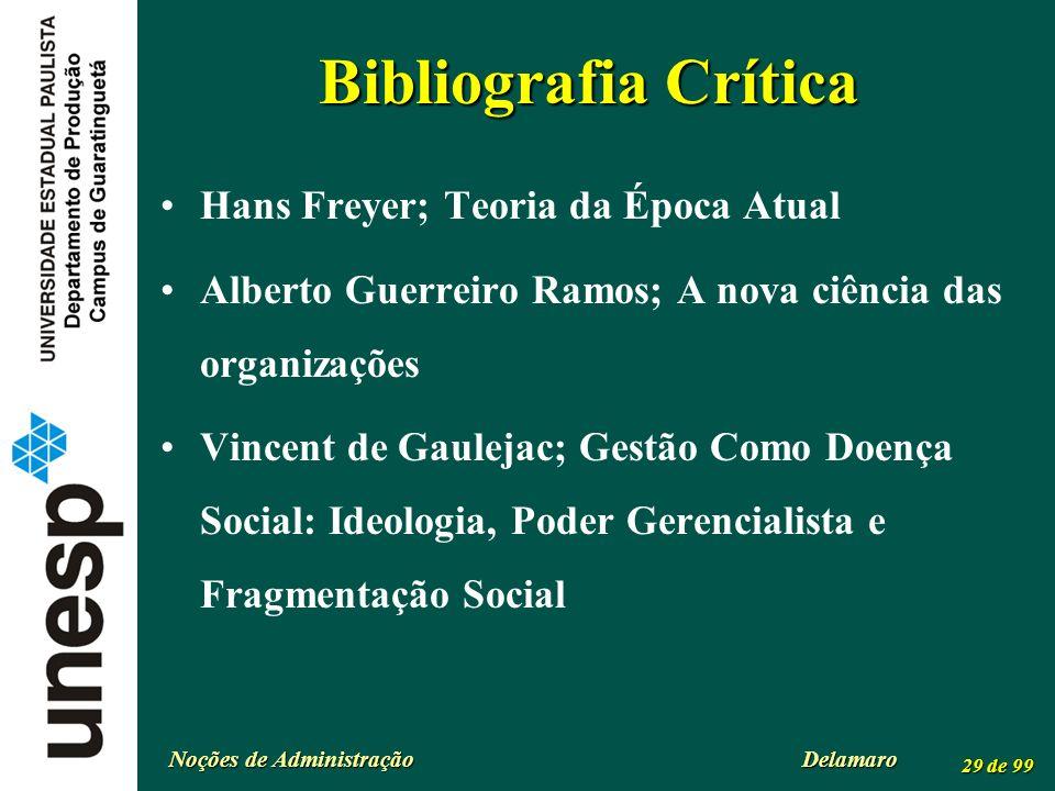 Bibliografia Crítica Hans Freyer; Teoria da Época Atual