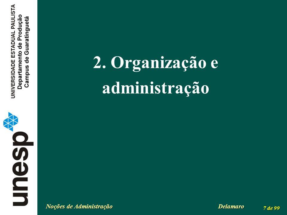 2. Organização e administração