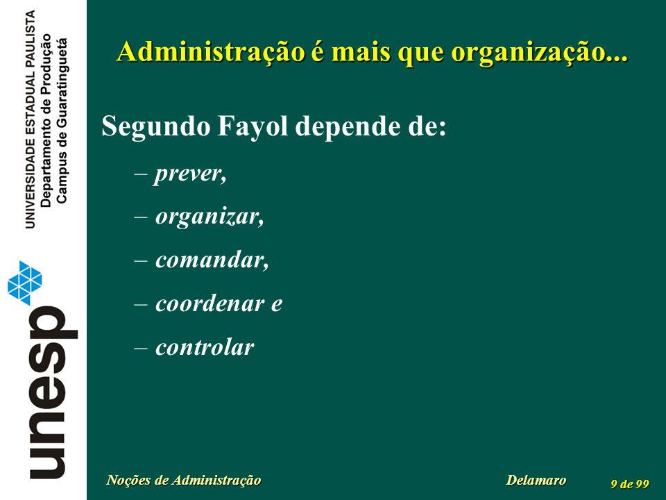 Administração é mais que organização...
