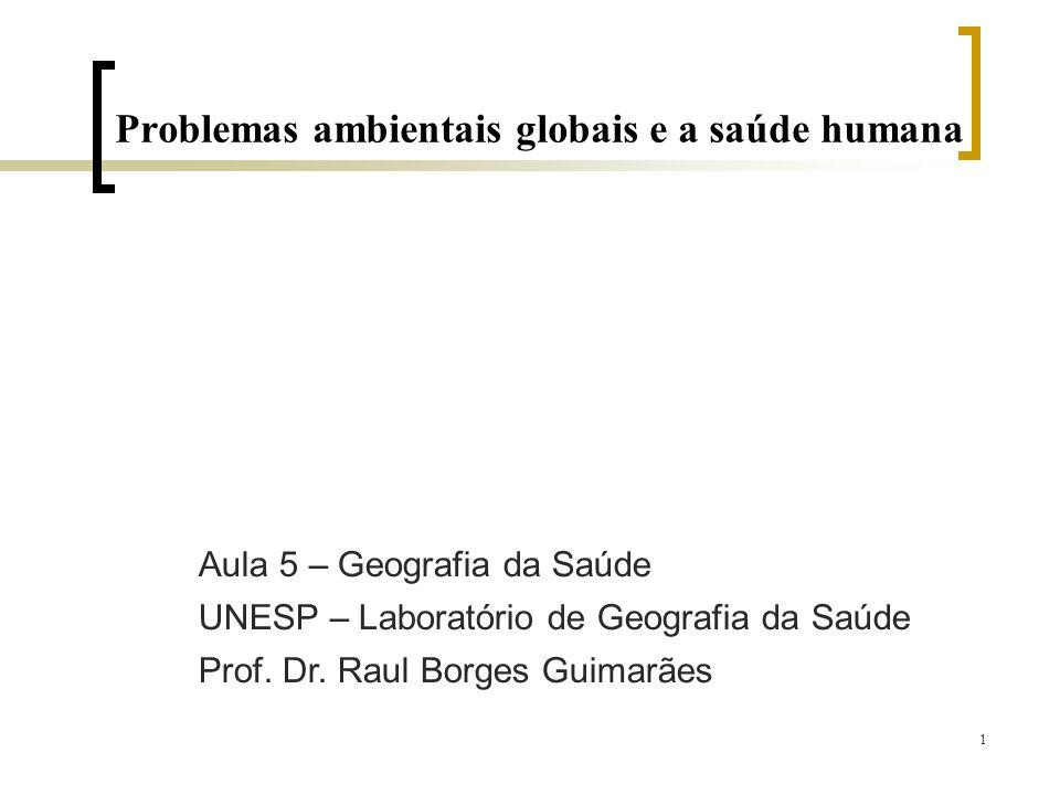 Problemas ambientais globais e a saúde humana