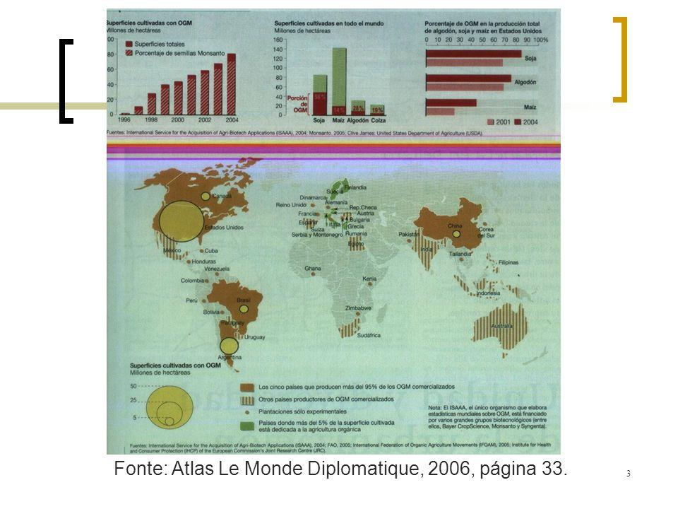 Fonte: Atlas Le Monde Diplomatique, 2006, página 33.
