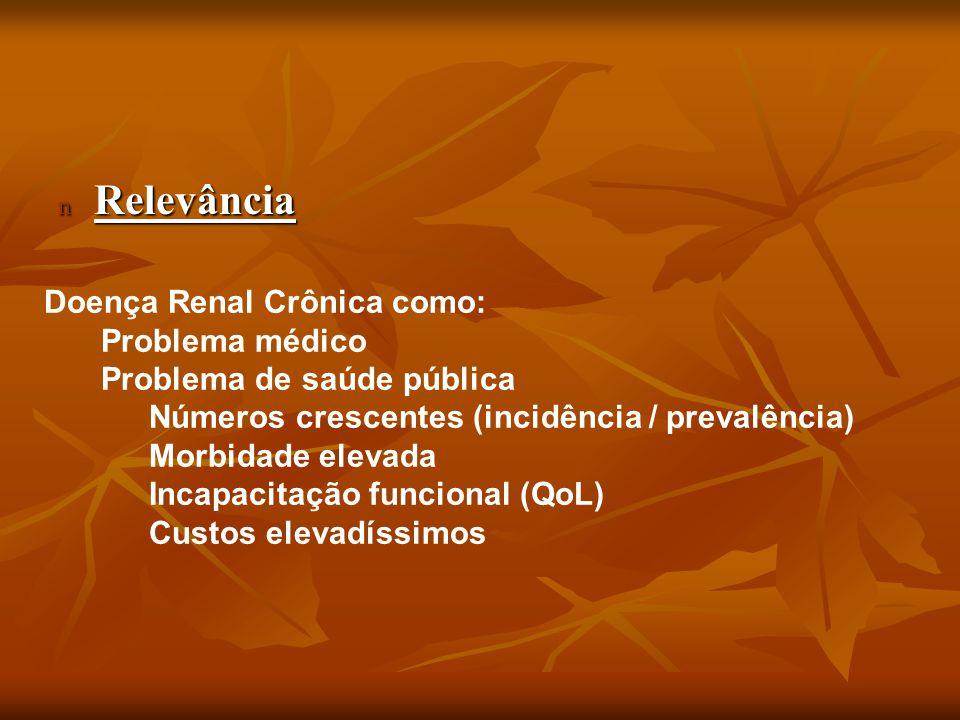 Relevância Doença Renal Crônica como: Problema médico