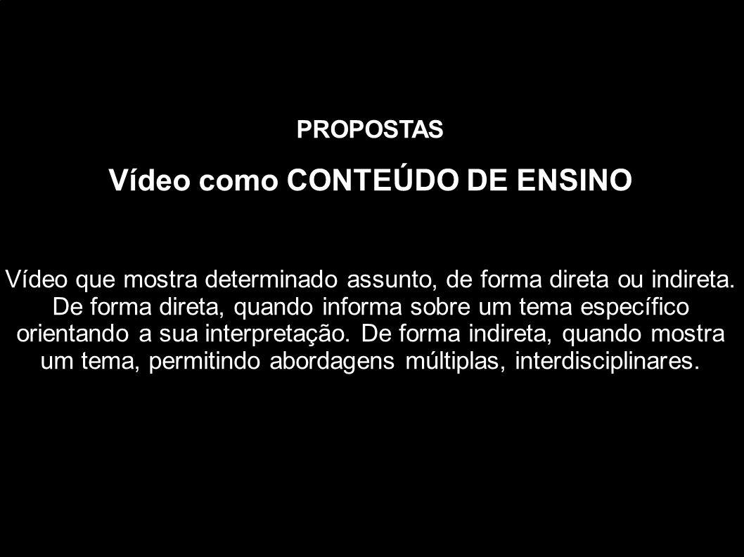 Vídeo como CONTEÚDO DE ENSINO
