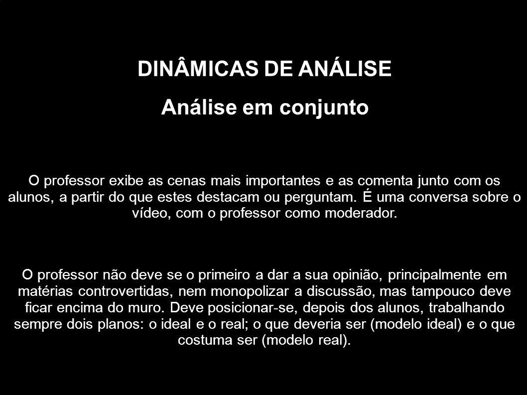 DINÂMICAS DE ANÁLISE Análise em conjunto