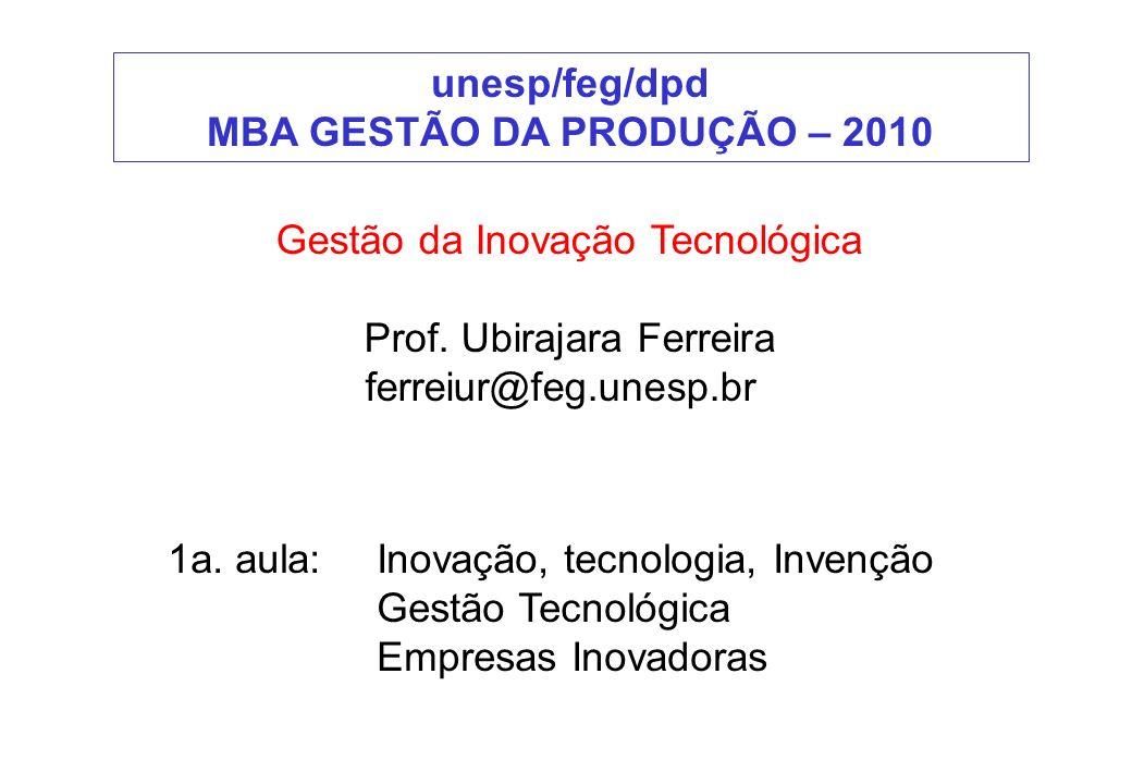 MBA GESTÃO DA PRODUÇÃO – 2010