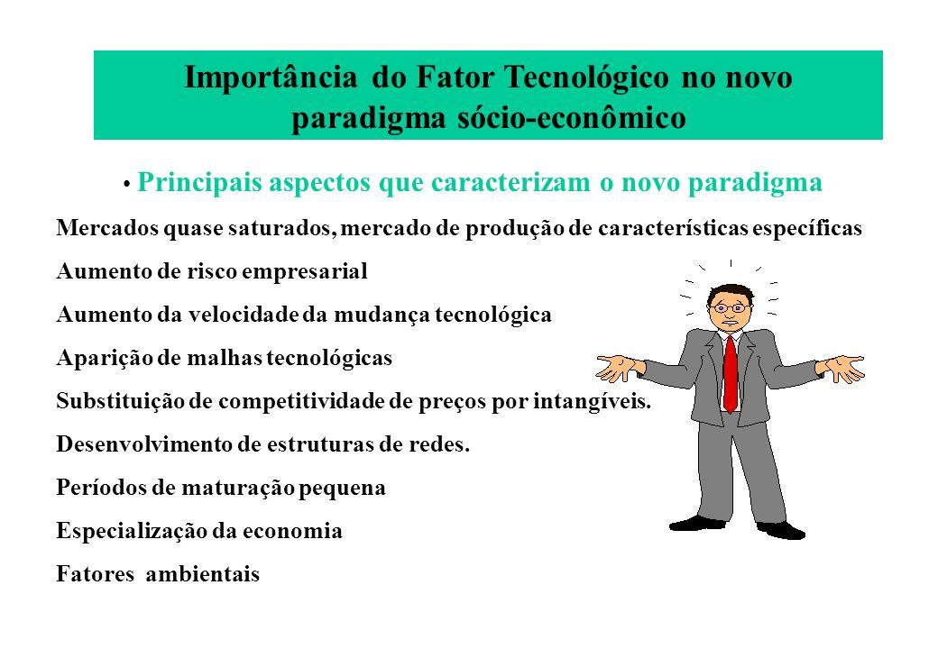 Importância do Fator Tecnológico no novo paradigma sócio-econômico