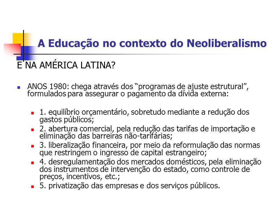 A Educação no contexto do Neoliberalismo
