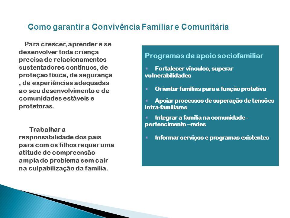 Como garantir a Convivência Familiar e Comunitária