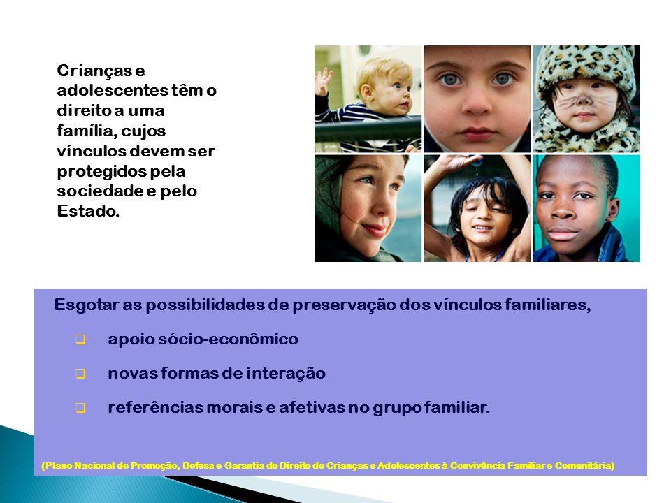 Esgotar as possibilidades de preservação dos vínculos familiares,