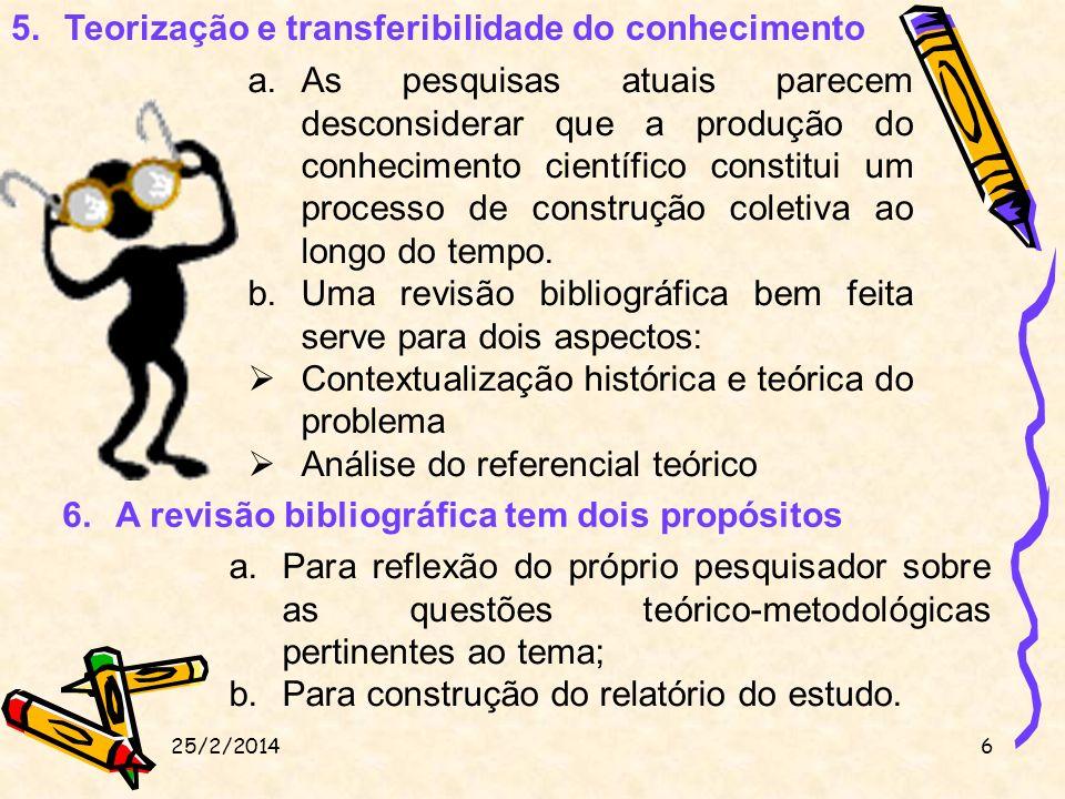 Teorização e transferibilidade do conhecimento
