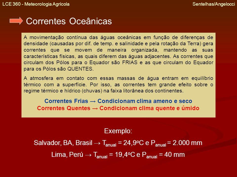 Correntes Oceânicas Exemplo: