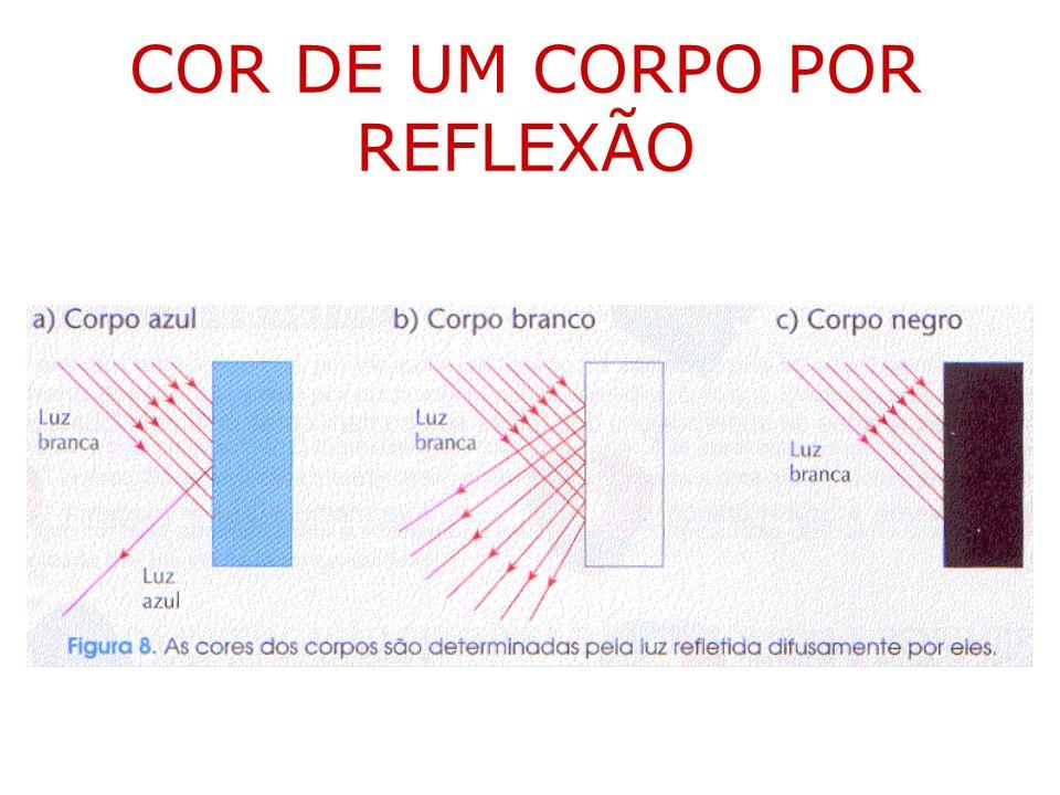 COR DE UM CORPO POR REFLEXÃO