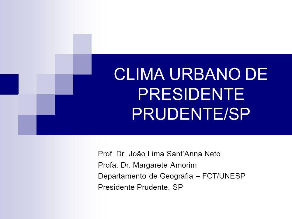 CLIMA URBANO DE PRESIDENTE PRUDENTE/SP